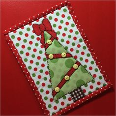 Christms Tree mug rug pattern by Stitches of Love Quilting