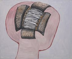"Philip Guston Head  Date:1977 Medium:Oil on canvas Dimensions:69 5/8"" x 7' 1"" (176.8 x 215.7 cm)"