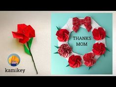 Jpapanese Origami creator kamikey' s original origami works and traditional models. I like to create kawaii origami. Origami Bow, Origami Easy, Diy And Crafts, Paper Crafts, Thanks Mom, Carnations, Handmade Flowers, Projects To Try, Bows