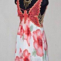 Комбинированное вязание   Вяжем сами Form Crochet, Refashion, Couture, Spring Summer, Formal Dresses, Fabric, Shirts, Free, Scarves