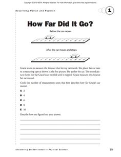 Here's a formative assessment probe on measuring length. (Supplement to the January 2011 issue of Science and Children.)