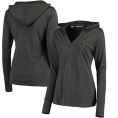 31113aabe922 Carolina Panthers Women's Charcoal Chelan DryTec Long Sleeve Hooded T-Shirt