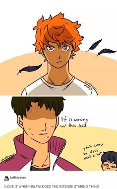 Hinata's scary face|| LOOK AT KAGEYAMA ON THE BACKGROUND