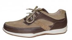 8752 Sneaker Brown Leather/Stone Suede Lion Sneakers.