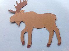 Die Cut Dieren Forest Moose 980 door CaresCorner op Etsy