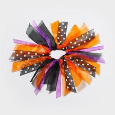 Halloween Ribbon Hair Tie