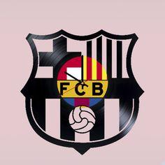 Futbol Club Barcelona FCB Barça Handmade Vinyl Record Wall Clock - VINYL CLOCKS