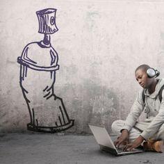 Vinilo decorativo de un spray para los amantes del graffiti. Masquevinilo.com