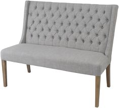 upholstered high back dining benches | Upholstered Dining Bench with Back