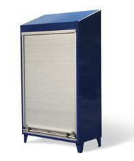 Roll-Up Door Cabinet with Slope Top