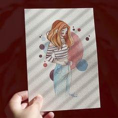 🌞 #illustration #art #morning #light #sketch #sketchbook #redhead #drawing #watercolor