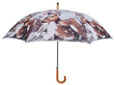 Parapluie Daim en Nylon et Bois 121x95cm sur Jardindeco