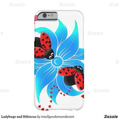 Ladybugs and Hibiscus Barely There iPhone 6 Case