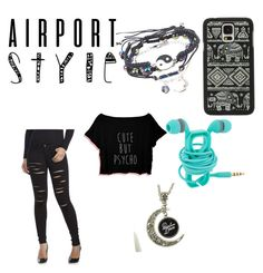 """Untitled #32"" by jasmyndallas ❤ liked on Polyvore featuring Flying Monkey, Samsung, GetTheLook and airportstyle"