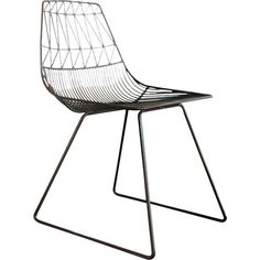 Showcasing an openwork design and a black finish, this stylish metal chair is the perfect addition to your contemporary-themed living room or den.
