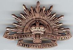 The original Badge of the Australian Army, worn on the hats of every Australian soldier. This is known as The Rising Sun Badge. Advance Australia Fair, Australia Day, Victoria Australia, Ww1 History, Remembrance Tattoos, Military Tattoos, Anzac Day, Lest We Forget, Coat Of Arms