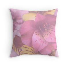 Soft Spring Flowers Throw Pillow by #MoonDreamsMusic #ThrowPillow #SoftSpringFlowers