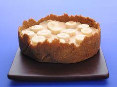 Receita de Cheesecake frio de manteiga de amendoim com banana | :: as melhores receitas de sobremesas de leonor de sousa bastos | flagrante delícia ::