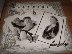 A pretty page for special photos!!!  and My magic memory box with Jan McKenzie