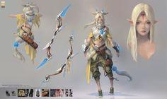 Elf_Bow_Character Design, Taejune Kim on ArtStation at https://www.artstation.com/artwork/KJB4W