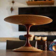 """384 Likes, 10 Comments - Onion woodturning crafts (@onionwood) on Instagram: """"Finally, I'm done. A large cake stand. #목선반 #어니언우드 #onionwood #woodturning #woodworking…"""""""