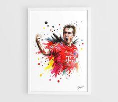 Philipp Lahm Bayern Munich  A3 Art Prints of the by NazarArt, $15.00