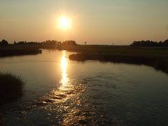 Sun Setting Over Sandy Hook Bay