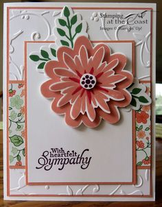 Stampin' Up!  Flower Patch, Flower Fair Framelits,  Simply Sketched, Gold Soiree paper
