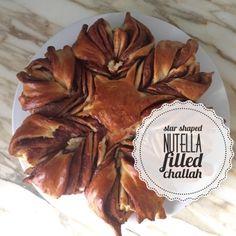 Jewish Star Shaped Nutella Filled Challah
