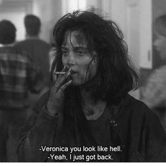 Veronica Sawyer is forever my post-bank-holiday-back-to-work mood . Veronica Sawyer is forever my post-bank-holiday-back-to-work mood . Movies Quotes, Film Quotes, Funny Movie Quotes, Classic Movie Quotes, Funny Movie Scenes, Cinema Quotes, Humor Quotes, Funny Humor, Citations Film