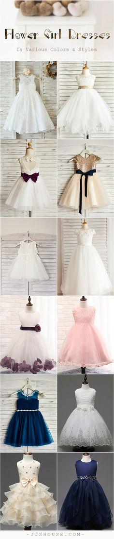 Flower Girl Dresses In Various Colors & Styles\ Choose one! #flowergirldress
