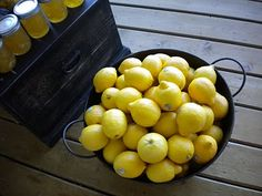 Lemons could be cute on the tables with yellow and purple.  Fruit can look really fancy but be much less expensive than other options.  #lemon #yellow #party