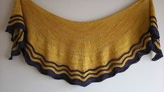 Whippoorwill by Carina Spencer, knitted by mscats | malabrigo Sock in Ochre and Eggplant