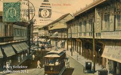 Pinoy Kollektor: Philippine TRAMVIAS (Street Cable Cars) in Postcards. Pinoy's first modern transportation Filipino Architecture, Cable, Filipiniana, Pinoy, Manila, Big Ben, Philippines, Spanish, Postcards