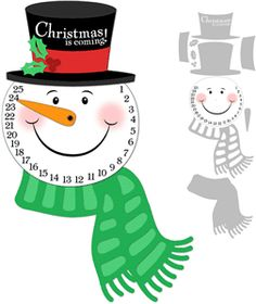 Snowman Advent Print and Cut Tutorial by Joscelyne Cutchens. Available in the Silhouette store. Advent Calenders, Diy Advent Calendar, Christmas Activities, Christmas Projects, Office Christmas, Christmas Diy, Christmas Crafts, Christmas Decorations, Winter Crafts For Kids