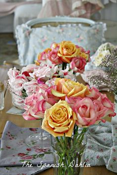 Roses in shabby apartment