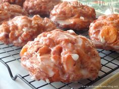 Welcome Home Blog: Warm Apple Fritters