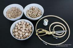 How to Make a Wood Bead Chandelier   Remodelaholic   Bloglovin'