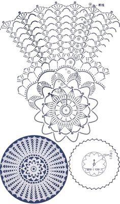 How to Crochet a Solid Granny Square Free Crochet Doily Patterns, Crochet Doily Diagram, Crochet Pillow Pattern, Crochet Symbols, Crochet Circles, Crochet Chart, Thread Crochet, Filet Crochet, Crochet Motif