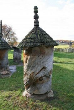 Ancient bee hives - old hollow tree trunk
