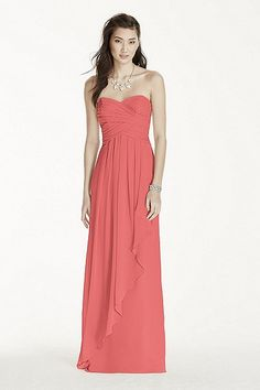 NEW! - Strapless Crinkle Chiffon Dress with Cascade Skirt Style W10840 In Store & Online $159.95