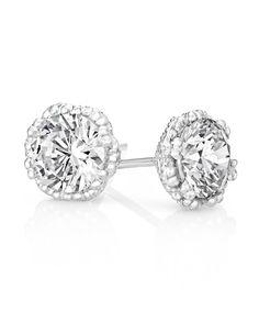 Hexagonal stud earrings in silver Diamond Studs, Diamond Jewelry, Jenna Clifford, Pearl Drop Earrings, Stud Earrings, Crystal Jewelry, Cool Things To Buy, Jewelery, Jewelry Design