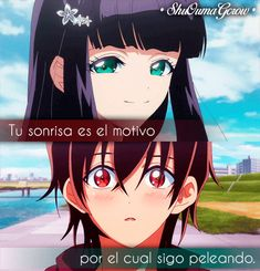 anime frases frases anime sentimientos amor ShuOumaGcrow sousei no onmyouji Otaku Anime, Chicas Punk Rock, Rokuro And Benio, Twin Star Exorcist, Romance Tips, Captain Tsubasa, Anime Qoutes, Love Phrases, Manga