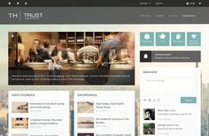 Trust Hospitality's intranet homepage