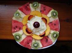 Resultado de imagen de mandalas plato frutas