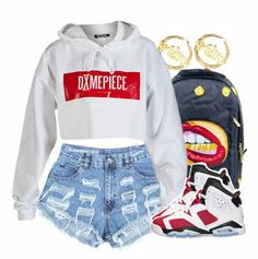 DIME PIECE Swag Outfits For Girls, Cute Swag Outfits, Teenager Outfits, Dope Outfits, Teen Fashion Outfits, Summer Outfits, Girl Outfits, Fashion Women, Women's Fashion