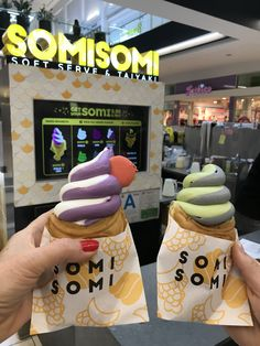 Soft serve ice cream in flavors that includes ube, milk, matcha, and black sesame. Locations include Koreatown and the Santa Anita Westfield Mall near Nordstrom's.
