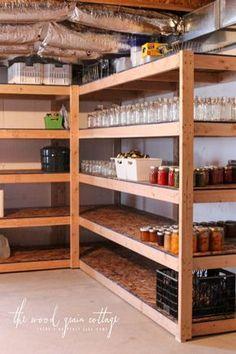 DIY Basement Shelving - The Wood Grain Cottage
