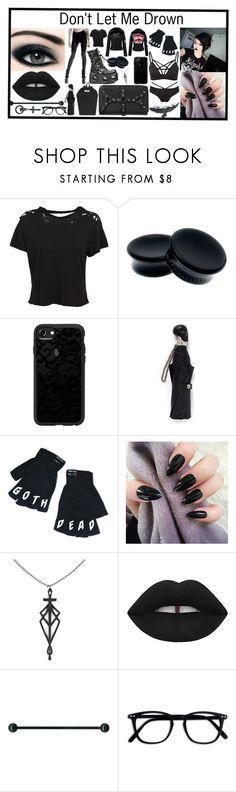 """Got a hole in my soul growing deeper and deeper"" by theslytherinheir ❤ liked on Polyvore featuring Unravel, Killstar, Casetify, Alexander McQueen, Lime Crime and Chris Habana"