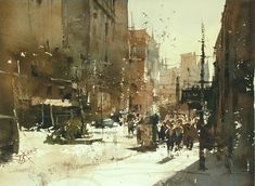【New York City】Chien Chung Wei Watercolor demo for workshop in Moscow.